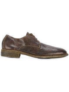 ботинки Дерби с простроченной отделкой Guidi
