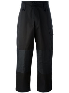 широкие брюки с панельным дизайном Alexander McQueen