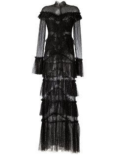 sheer lace ruffled maxi dress Jonathan Simkhai