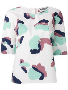 блузка с абстрактным принтом Essentiel Antwerp