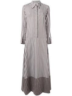 полосатое платье-рубашка Dondup