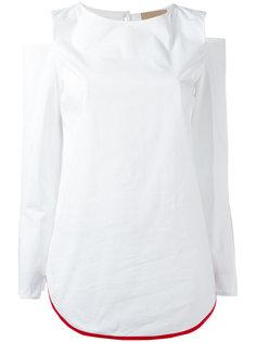 блузка с вырезами на плечах Erika Cavallini