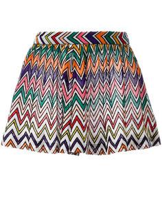 шорты с зигзагообразным узором Missoni