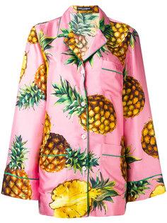 пижамная рубашка с принтом ананасов Dolce & Gabbana