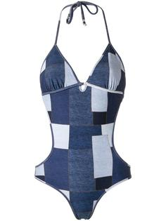 panelled swimsuit Amir Slama