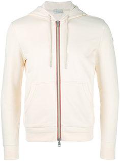 striped trim hoodie Moncler