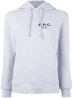 толстовка с логотипом и капюшоном A.P.C.