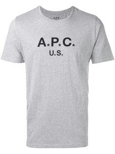 футболка с логотипом A.P.C.