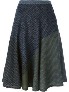 расклешенная юбка с контрастными панелями Issey Miyake Vintage