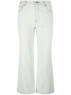 расклешенные укороченные брюки A.P.C.