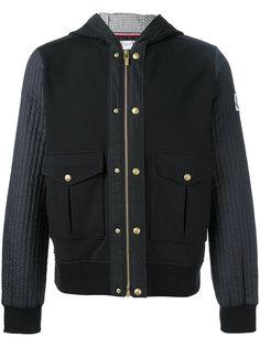 куртка с капюшоном и комбинированными панелями Moncler Gamme Bleu