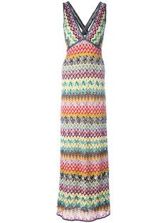 длинное твидовое платье  Missoni