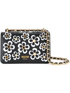 сумка на плечо с цветочными элементами Moschino