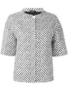 пиджак с пятнистым узором на молнии Herno