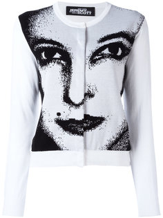 face print cardigan Jeremy Scott