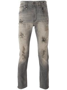 джинсы кроя слим с рваной отделкой R13