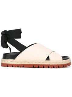 сандалии с завязками на щиколотке Marni