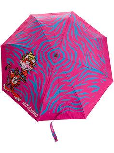 зонт с принтом животных Moschino