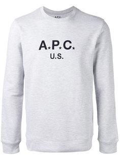 толстовка с логотипом A.P.C.