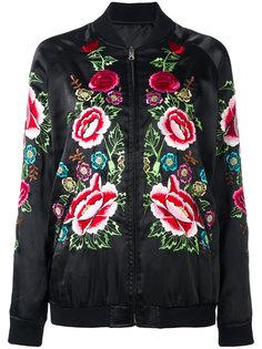 куртка-бомбер с вышитыми розами P.A.R.O.S.H.