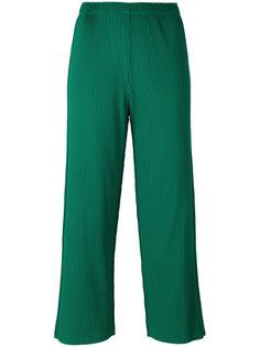 укороченные брюки с отделкой в рубчик Issey Miyake Cauliflower