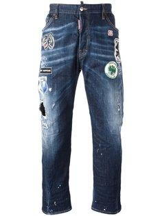 джинсы Workwear с нашивками Dsquared2
