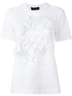 футболка с аппликацией из проводов Simone Rocha