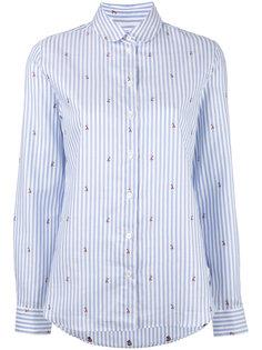 рубашка с жаккардовым узором из лис Maison Kitsuné
