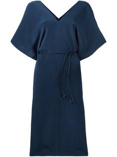 платье миди с V-образным вырезом Joseph