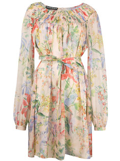 floral print longsleeved dress Rochas