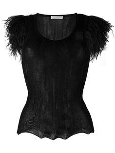 полупрозрачная блузка с круглым вырезом Philosophy Di Lorenzo Serafini