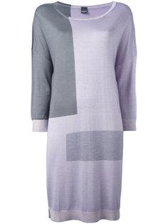 трикотажное платье дизайна колор-блок Lorena Antoniazzi