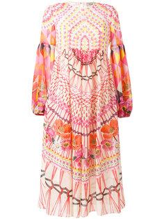 расклешенное платье с орнаментом Temperley London
