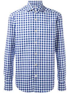 клетчатая рубашка Kiton