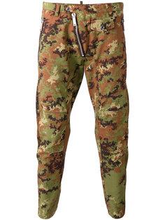 зауженные камуфляжные брюки Dsquared2