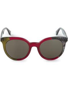 овальные солнечные очки Fendi