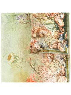 шарф с принтом кораллов Alberta Ferretti