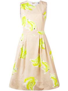 расклешенное платье с открытой спиной MSGM