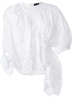 вышитая блузка с оборками Simone Rocha