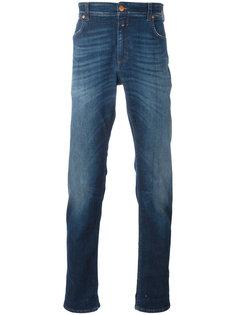 зауженные джинсы с отворотами Closed
