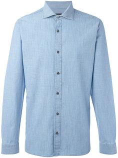 джинсовая рубашка узкого кроя Z Zegna