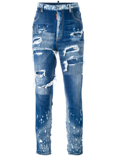 джинсы скинни с потертой отделкой Dsquared2