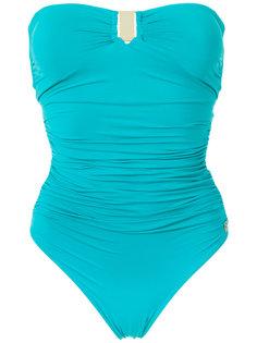 draped swimsuit Brigitte