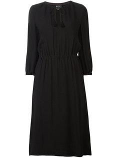 расклешенное платье A.P.C.
