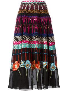 плиссированная юбка с цветочным узором Temperley London