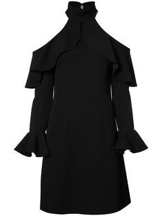 cut-out ruffle trim dress  Elie Saab