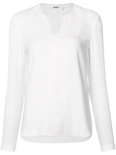embroidered trim blouse  Elie Tahari