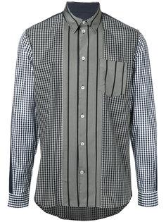 клетчатая рубашка с полосатыми вставками Golden Goose Deluxe Brand