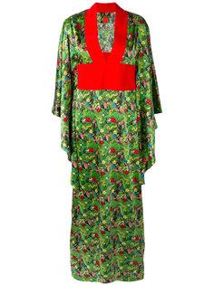 длинное платье с V-образным вырезом Ultràchic