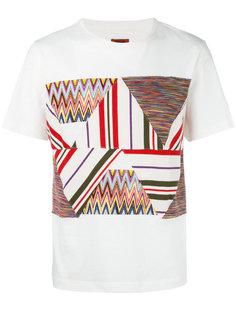 футболка со ставкой в стиле пэчворк Missoni